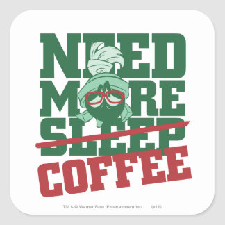 MARVIN THE MARTIAN™ - Need More Coffee Sticker