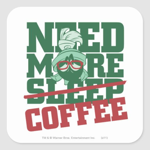 Marvin The Martian - Need More Coffee Sticker
