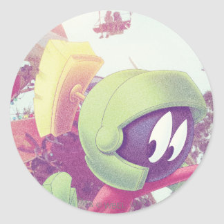 MARVIN THE MARTIAN™ On Vacation Round Sticker
