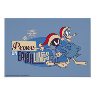 MARVIN THE MARTIAN™- Peace On Earthlings Poster