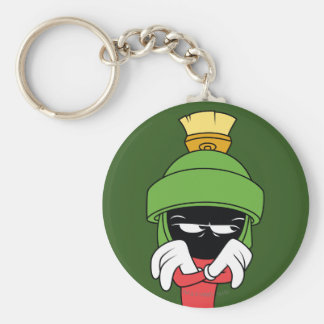MARVIN THE MARTIAN™ Pout Basic Round Button Key Ring