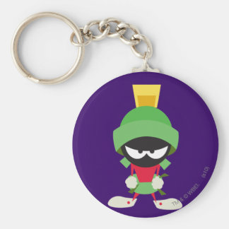 MARVIN THE MARTIAN™ Ready to Attack Basic Round Button Key Ring