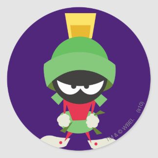 MARVIN THE MARTIAN™ Ready to Attack Round Sticker