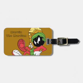 MARVIN THE MARTIAN™ Reclining With Laser Luggage Tags