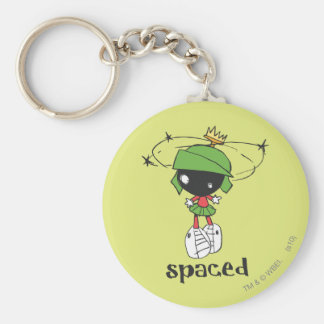 MARVIN THE MARTIAN™ Spaced Basic Round Button Key Ring