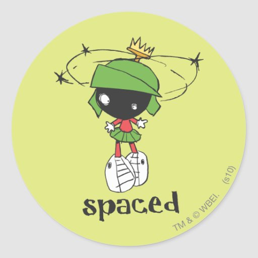 Marvin the Martian Spaced Sticker