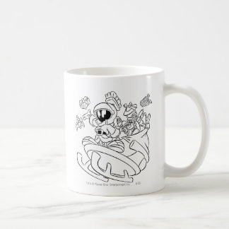MARVIN THE MARTIAN™ with toys on space sled Basic White Mug