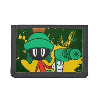 Marvin With Gun Tri-fold Wallets