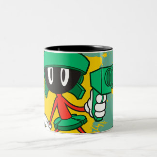 Marvin With Gun Two-Tone Mug