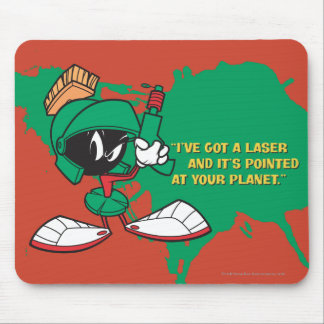 Marvin with Laser Pointed Up Mouse Pad