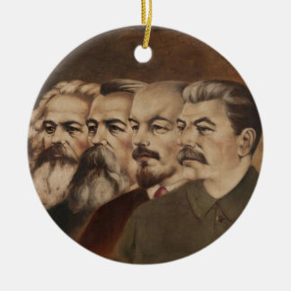 Marx, Engels, Lenin, and Stalin Ceramic Ornament