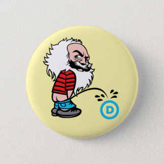 Marx Pee on the DNC Button