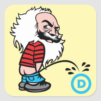 Marx Pee on the DNC Sticker