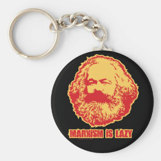 Marxism is Lazy Basic Round Button Key Ring