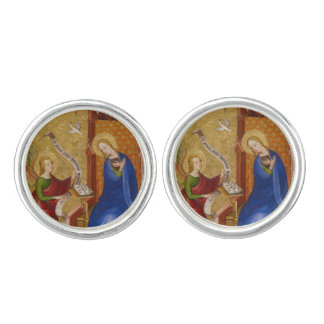 Mary and Angel of Annunciation Cuff Links