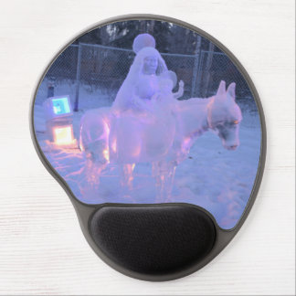 Mary And Baby Jesus Night Snow Winter Sculpture Gel Mouse Pad