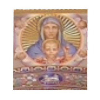 mary and child art notepad