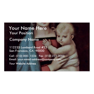 Mary And Christ Child By Raffael (Best Quality) Pack Of Standard Business Cards