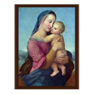 Mary And Christ Child By Raffael (Best Quality) Postcard