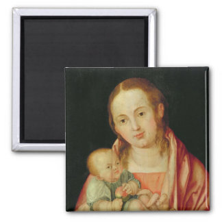Mary and her Child Square Magnet
