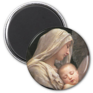 Mary and Jesus 6 Cm Round Magnet