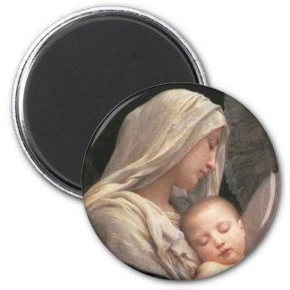 Mary and Jesus 6 Cm Round Magnet
