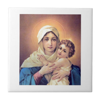 Mary and Jesus Ceramic Tile