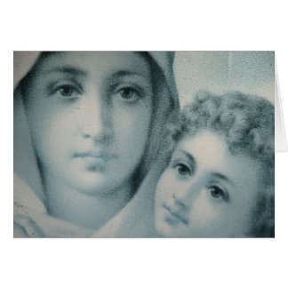 Mary And Jesus Christmas Card