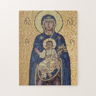 Mary And Jesus Mosaic Jigsaw Puzzle