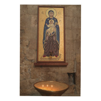 Mary And Jesus Mosaic Wood Wall Art