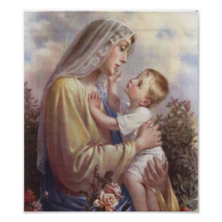 Mary and Jesus Poster