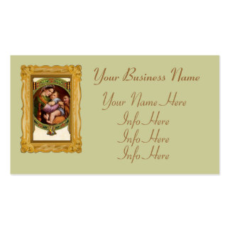 Mary And Jesus With Holly Pack Of Standard Business Cards