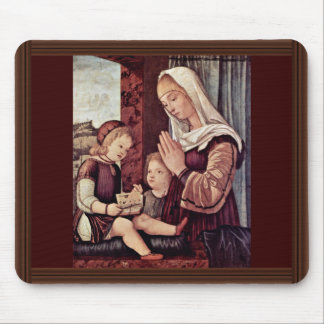 Mary And John The Baptist, Pray To The Christ Chil Mouse Pads