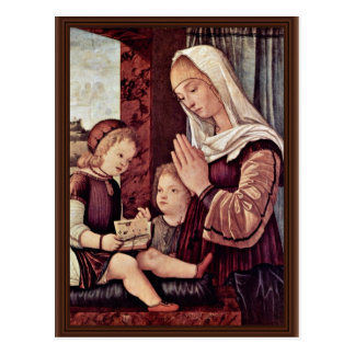 Mary And John The Baptist, Pray To The Christ Chil Postcard