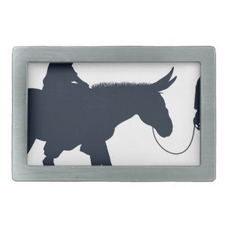 Mary and Joseph Christian Illustration Silhouettes Rectangular Belt Buckle