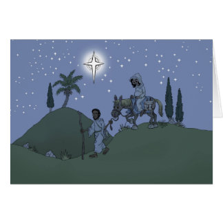 Mary and Joseph, Christmas card. Card