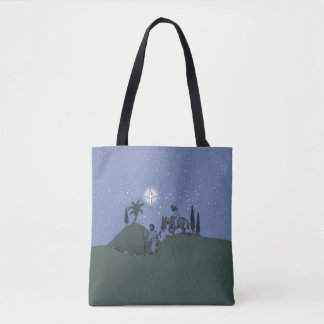 Mary and Joseph, Christmas design. Tote Bag