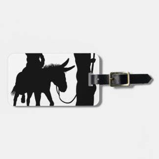 Mary and Joseph Nativity Silhouettes Luggage Tag