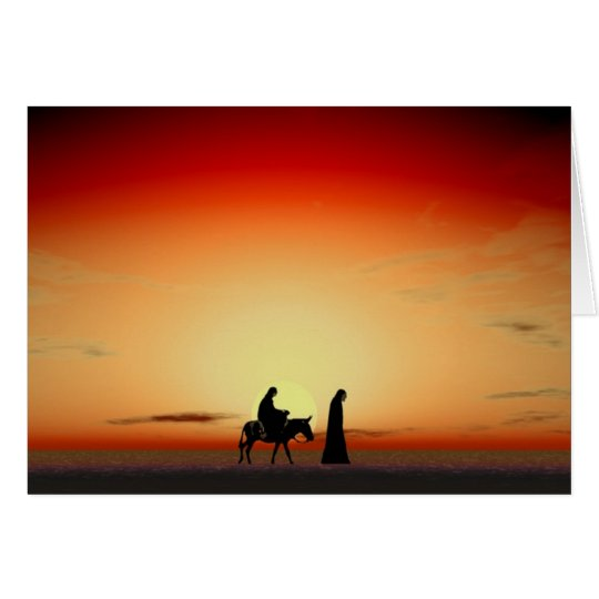 Mary and Joseph Sunset. Card