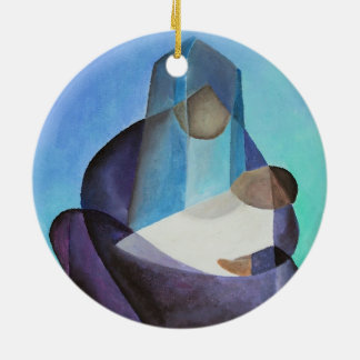Mary and Messiah Ceramic Ornament