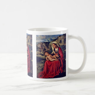 Mary And The Christ ChildIn A Landscape Coffee Mug
