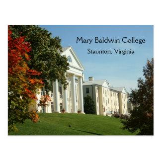 Mary Baldwin College Staunton VA Virginia Postcard