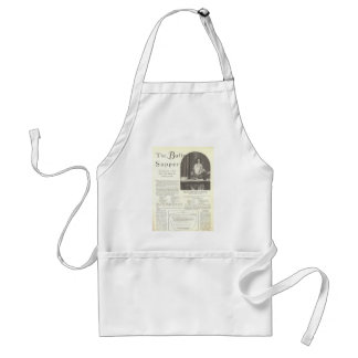 Mary Brian menu vintage page Standard Apron