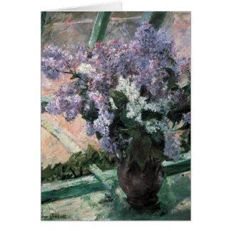 Mary Cassat Fine Art Flowers Lilacs Card