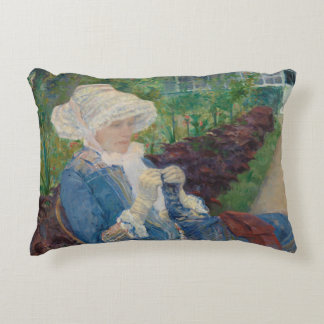 Mary Cassat- Lydia Crocheting in the Garden Decorative Cushion