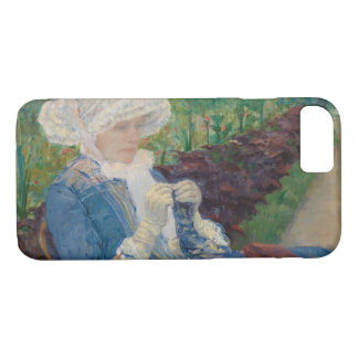 Mary Cassat- Lydia Crocheting in the Garden iPhone 7 Case