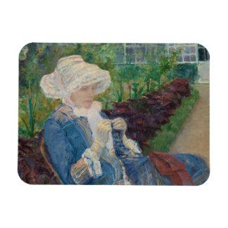 Mary Cassat- Lydia Crocheting in the Garden Rectangular Photo Magnet