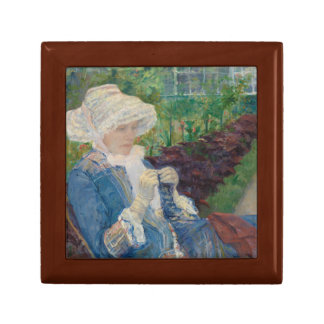 Mary Cassat- Lydia Crocheting in the Garden Small Square Gift Box