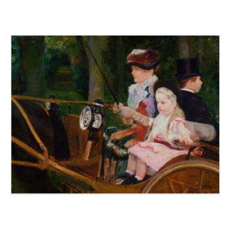 Mary Cassatt - A Woman and a Girl Driving Postcard