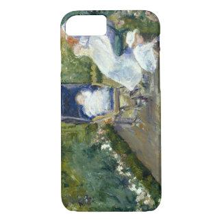 Mary Cassatt - Children in a Garden (The Nurse) iPhone 7 Case